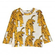 T-shirt Tigre Coton Bio ML Blanc