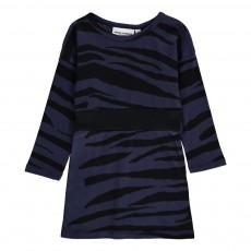Robe Rayures Tigre Coton Bio Bleu marine