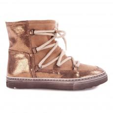 Boots Cuir Fourrées Bronze