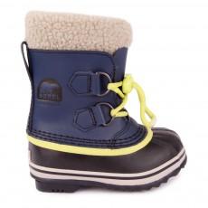 Boots Cuir Imperméable Yoot Pac Bleu marine