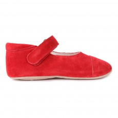 Chaussons Ballerines  Scratch Rouge