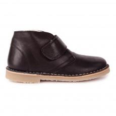 Desert Boots Cuir Scratch Fourrées Noir