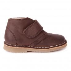 Desert Boots Fourrése à Scratch Marron