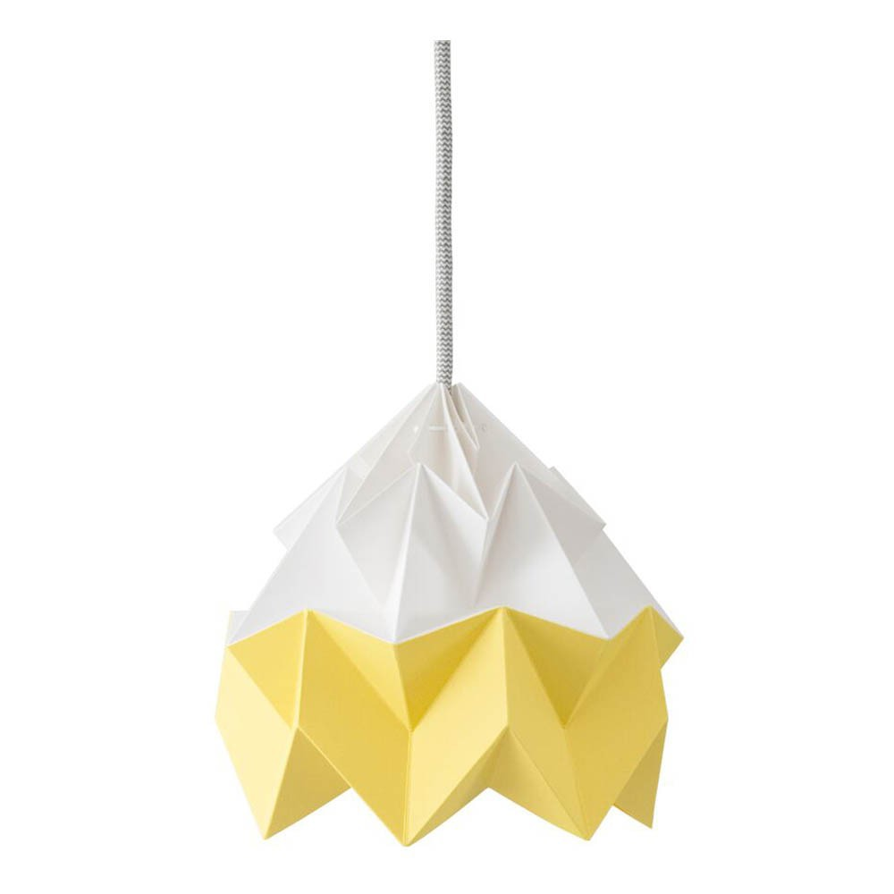 suspension origami moth bicolore jaune studio snowpuppe d coration smallable. Black Bedroom Furniture Sets. Home Design Ideas