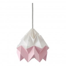 Suspension Origami Moth Bicolore Rose
