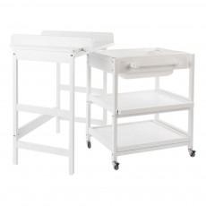 Table à langer Comfort Smart baignoire Blanc