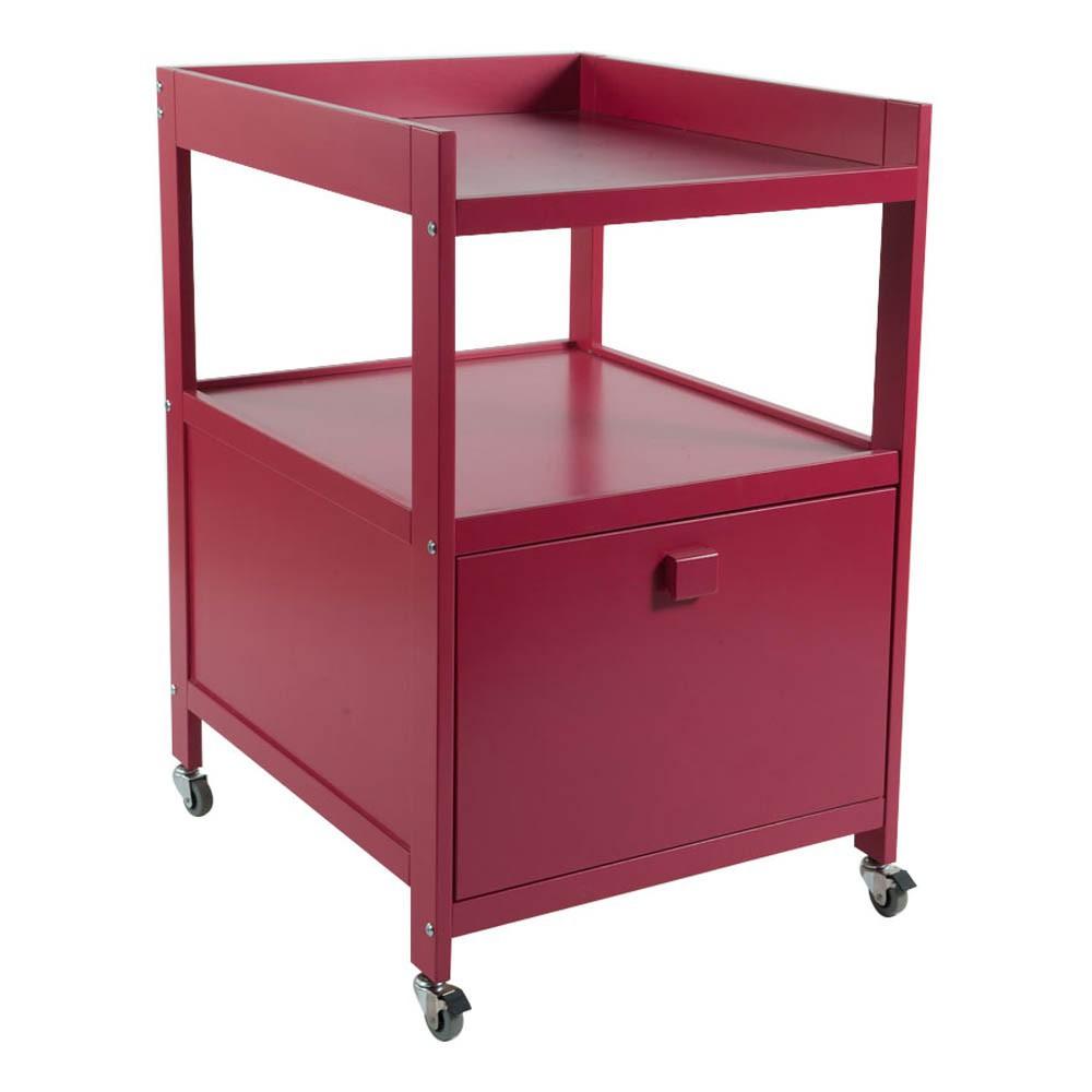 Table Langer Cubic Grand Tiroir Rouge Quax Univers