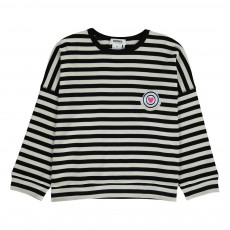 T-shirt Oversize Rayé Noir