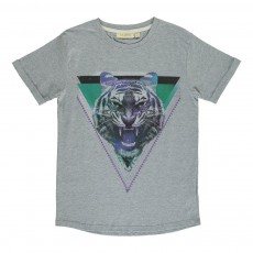 T-Shirt Tigre Norman Gris chiné