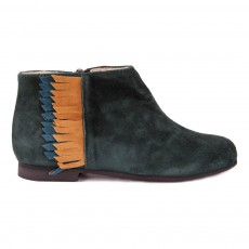 Bottines Franges Ingrid Vert