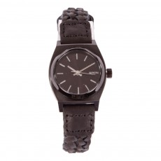 Montre Small Time Teller Leather Noir