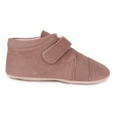 Chaussons Scratch Velcro Taupe