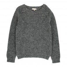 Pull Coudes Point Mousse Tom Gris