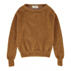 Pull Mohair Col Rond Song Ocre