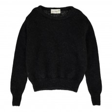 Pull Mohair Col Rond Song Noir