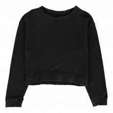 Sweat Cropped Expand Zip Noir