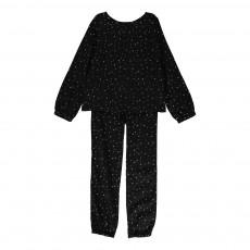 Pyjama Etoiles Almeria Noir