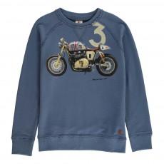 Sweat Motocross Bleu