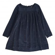 Robe Smockée Mukesh Bleu marine
