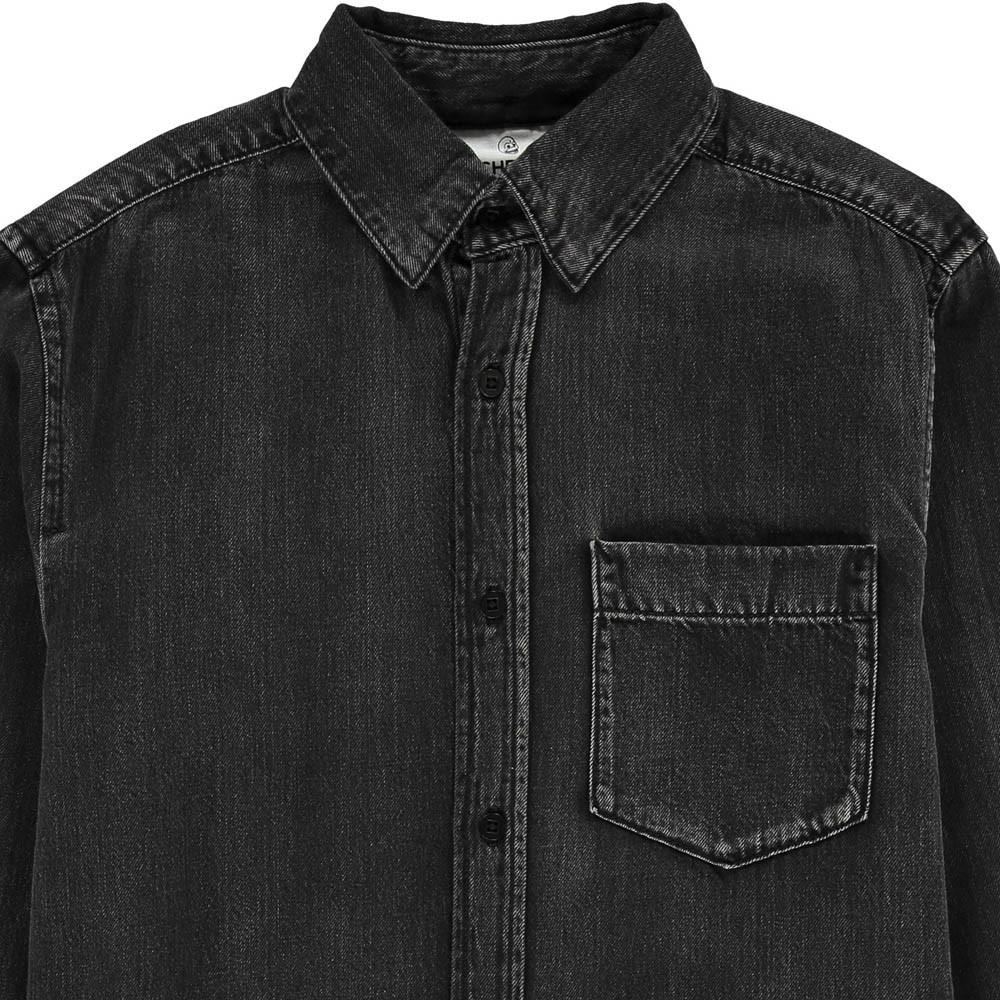chemise en jean bolt noir cheap monday mode ado gar on smallable. Black Bedroom Furniture Sets. Home Design Ideas