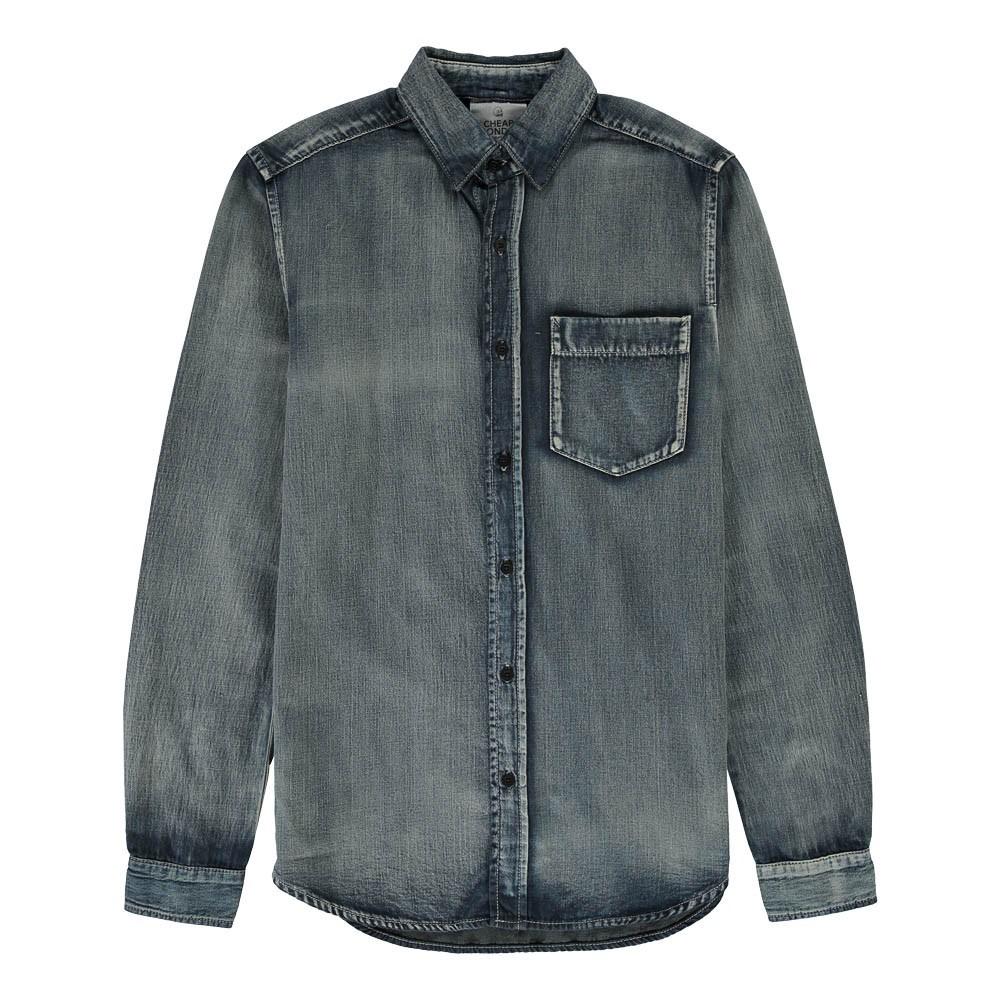 chemise en jean bolt bleu cheap monday mode ado gar on smallable. Black Bedroom Furniture Sets. Home Design Ideas
