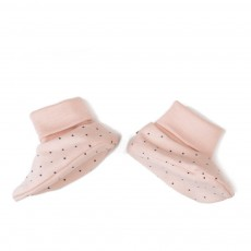 Chaussons Pois Rose