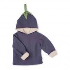 Burnou Baby Alpaga Aubergine Violet
