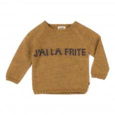 Pull Baby Alpaga J'ai La Frite Ocre