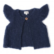 Cardigan Baby Alpaga Bouclettes Mae Bleu marine