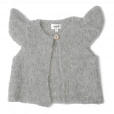 Cardigan Baby Alpaga Bouclettes Mae Gris clair