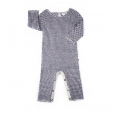 Combinaison Baby Alpaga  Bleu marine