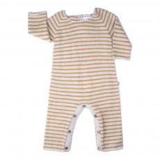 Combinaison Baby Alpaga Rayée  Ocre