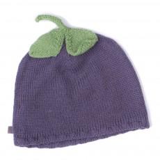 Bonnet Baby Alpaga Aubergine Violet