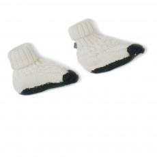 Chaussons Baby Alpaga Mouton Ivoire