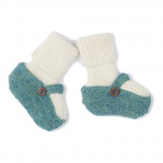 Chaussons Chaussettes Baby Alpaga Vert sapin