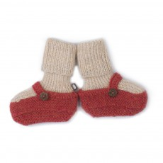 Chaussons Chaussettes Baby Alpaga Rouge