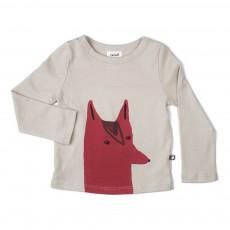 T-Shirt Coton Pima Renard Beige