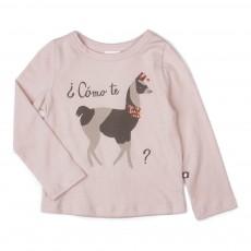 T-Shirt Coton Pima Lama Tee Rose pâle