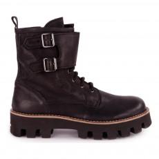 Boots Hautes Zippées Noir