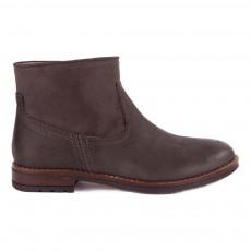 Boots Zippées Bicolore Gris foncé
