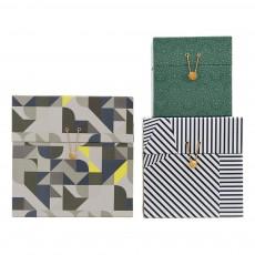 Boîtes de rangement motifs graphiques - Set de 3 Multicolore