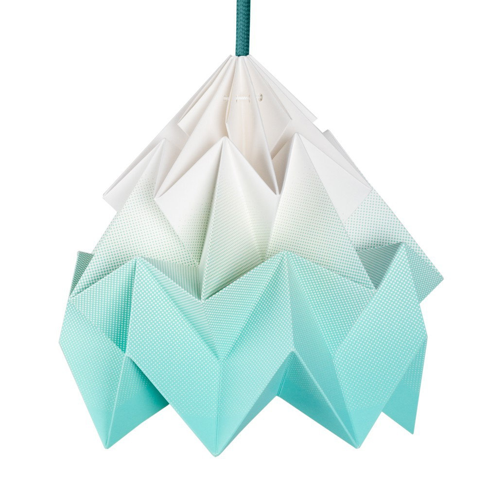 Suspension moth bleu turquoise studio snowpuppe for Suspension bleu