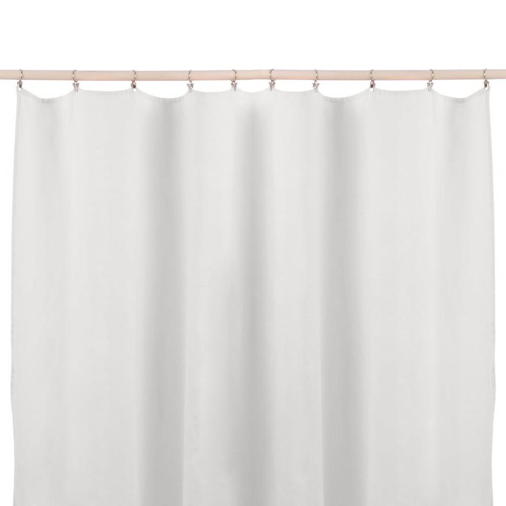 rideau en lin lav sans nouettes blanc lab d coration. Black Bedroom Furniture Sets. Home Design Ideas