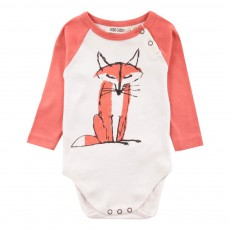 Body Renard Manches Raglan Rouge
