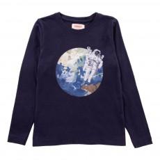 T-Shirt Astronaute Chess Bleu marine