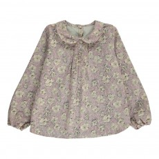 Blouse Liberty Col Claudine Vieux Rose