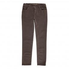 Pantalon Velours Souple Taupe