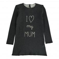"Robe ""I Love My Mum"" Gris charbon"