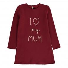 "Robe ""I Love My Mum"" Bordeaux"