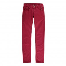 Pantalon Coupe Slim Bordeaux